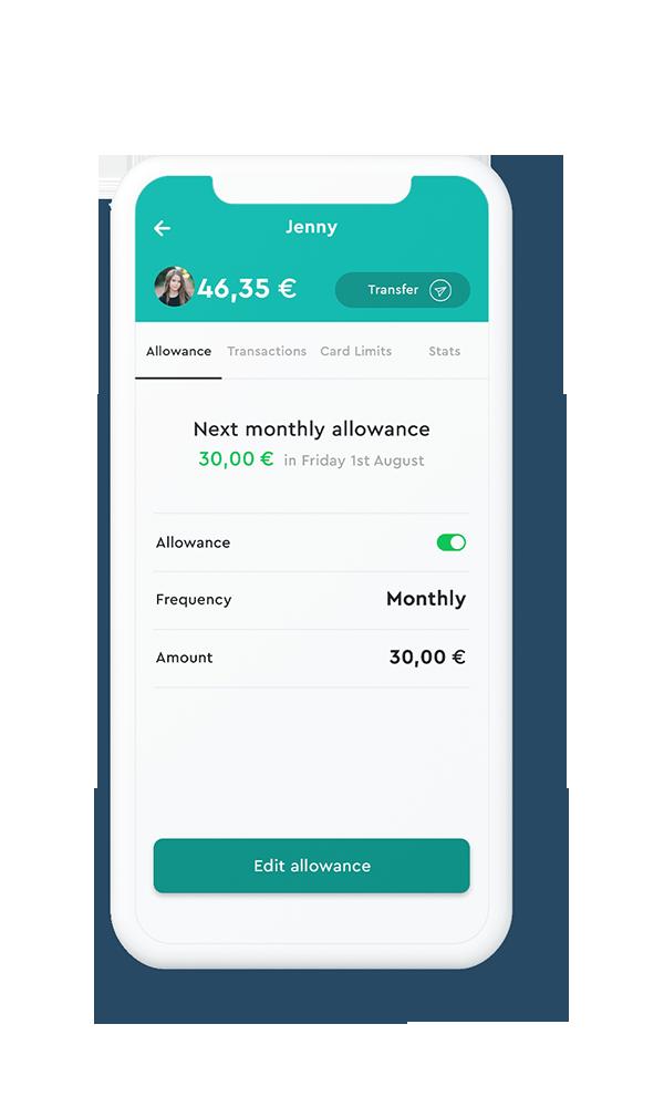 Automate pocket money