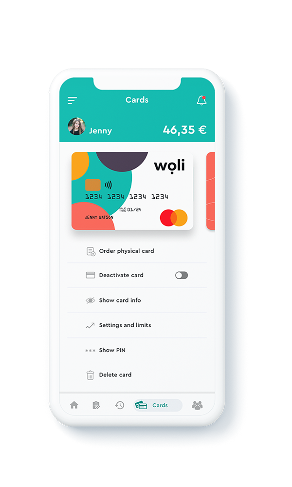 Real-time card management